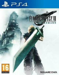 Final Fantasy 7 VII FF7 Remake PS4 NEW UK STOCK SHIPPING TODAY + Mini Stand
