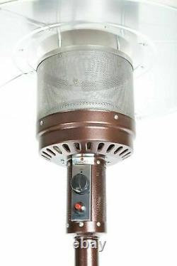 Fire Sense 46,000 BTU Patio Heater Chestnut Finish NEW SHIPS FAST