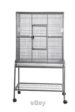Flight Cage & Stand 32x21x63 Authentic A&E Cage Free Shipping, Toy & Treats