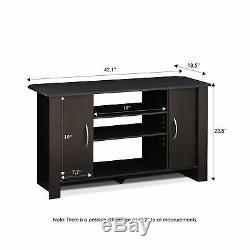 Furinno 14055EX Econ TV Stand Entertainment Center Espresso 46 Free Shipping