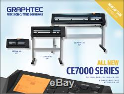 GRAPHTEC CE7000-60 Vinyl Cutter Plotter+FREE Stand & FREE Shipping