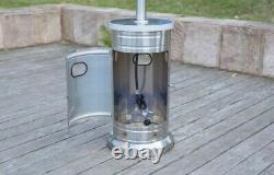 Garden Treasures 48000BTU Gas Patio Heater with Wheels FREE SHIPS TODAY