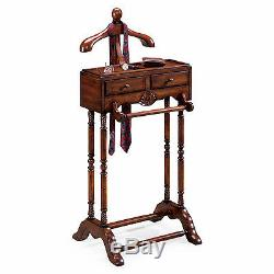 Gentlemans Valet Stand Mens Valet Rack Plantation Cherry Free Shipping