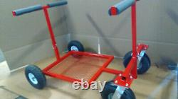 Go Kart Stand Collapsible Kart Stand Rolling RED Powdercoat NEW FREE SHIP