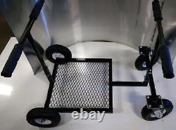 Go Kart Stand Collapsible Rolling Go Kart Stand Black Powdercoat NEW FREE SHIP