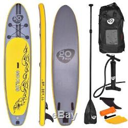 Goplus 11' Inflatable Stand up Paddle Board SUP with 3 Fins FREE SHIP NEW BOX