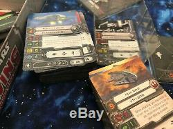 HUGE X-Wing Miniatures Game Lot 40 ships + all tokens, pilots, stands etc