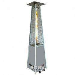 Hampton Bay 42,000 BTU Steel Gold Gas Flame Pyramid Patio Heater New FAST SHIP