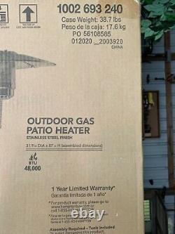 Hampton Bay 48000 BTU Outdoor Heating Propane Patio Heater -FREE Fedex Shipping