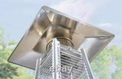 Hampton Bay Patio Heater 42,000 BTU Gold Gas w Wheel Kit BRAND NEW FAST SHIP