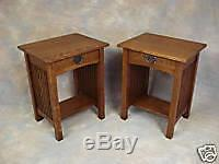 Handmade Mission Oak Spindle Night Stand Arts & Crafts Free Shipping
