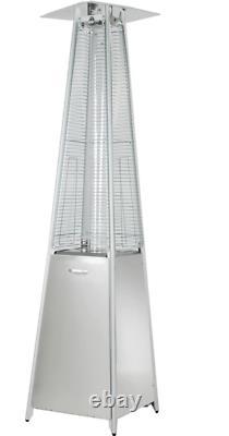 Hiland HLDSO1-GTSS 91-Inch Tall Quartz Glass Tube Heater Silver -Free shipping