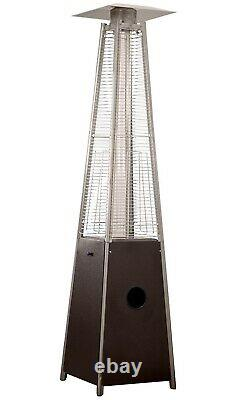 Hiland HLDSO1 Pyramid Patio Propane Heater with Wheels 87 inches SHIPS FAST