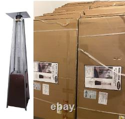 Hiland HLDSO1-WGTHG Pyramid Patio Propane Heater withWheels, 87 Inches SHIPS NOW