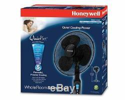 Honeywell QuietSet 16 Stand Fan Black, New, Free Shipping