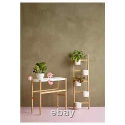 IKEA SATSUMAS Plant stand, bamboo/white 27 ½ FAST SHIPPING