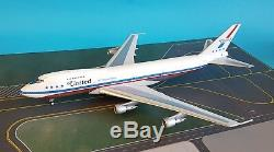 InFlight200 Boeing 747-100 United N4716U'747 Friend Ship''polished with stand