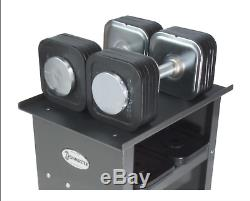 IronMaster Quick-Lock Adjustable Dumbbells 75LB Set & Stand READY TO SHIP