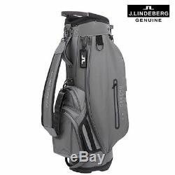 J. LINDEBERG Troon Hard Twill Golf Stand Bag Light Grey 1518170919 Express Ship