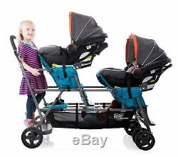 Joovy Big Caboose Graphite Stand On Triple Stroller, Black FREE SHIPPING