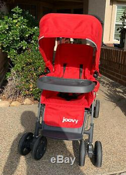 Joovy Caboose Graphite Stand On Tandem Stroller, Red Brand New Free Ship