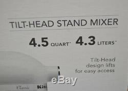 KitchenAid Artisan 4.5QT Tilt-Head Stand Mixer K45SSWH White Free US Shipping