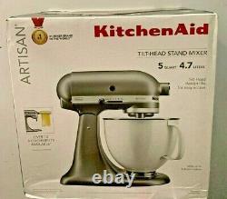 KitchenAid Artisan 5QT Tilt-Head Stand Mixer Silver FAST SHIPPING