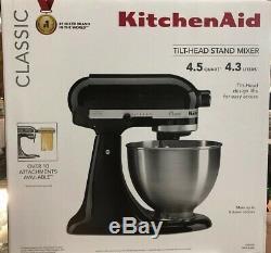 KitchenAid Classic 4.5Qt Stand Mixer K45SS Onyx Black New Fast Shipping