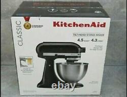 KitchenAid K45SSOB Classic 4.5 Quart Tilt Head Stand Mixer Onyx Black Free Ship