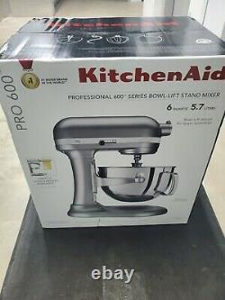 KitchenAid KP26M1XSL 6-Quart Pro 600. Stand Mixer. Free Shipping