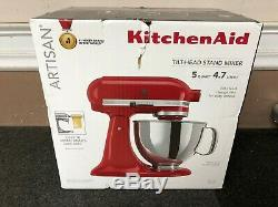 KitchenAid KSM150PSER Artisan 5-Quart Stand Mixer Empire Red NEW Free shipping
