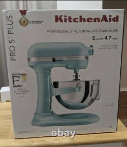 KitchenAid Pro 5 Plus KV25G0X Ice Blue 5-Quart Bowl-Lift Stand Mixer SHIPS FAST