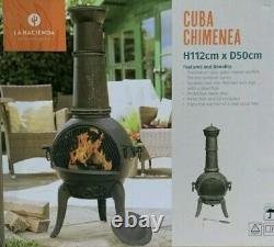 La Hacienda Cuba Cast Iron Chimenea Brand New In Box Fast Shipping