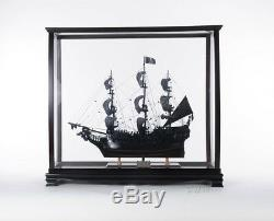 Lrg Display Case Table Top Wood & Plexiglass Tall Ship Model Cabinet Stand New