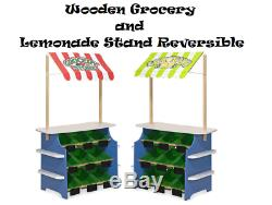 MELISSA & DOUG Wooden Grocery and Lemonade Stand Reversible Awning FREE SHIPPING