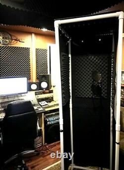 MICBOOTH-911 2' x 2' FREE SHIPPING! Portable Stand-In VOCAL BOOTH With Light