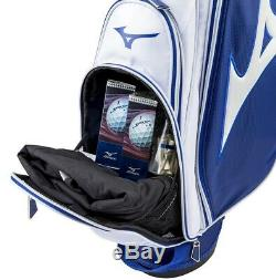 MIZUNO Tour Series Caddy Bag Slim Stand 5LJC172400 White ¾ Navy Fast Shipping
