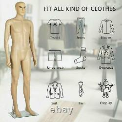 Male Mannequin Full Body Realistic Shop Display Head Turns Form + Base US Ship