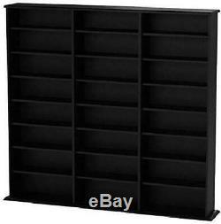 Multimedia Cabinet Storage DVD BluRay Book Stand Shelf Rack Organizer Free Ship