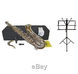 NEW Bb Silver Nickel Tenor Saxophone with Case, and Music Stand, Ship from USA