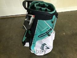 NEW Callaway Fairway 14 White/Blue/Navy Double Strap Stand Golf Bag free ship