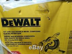 NEW IN BOX DWS 779 12IN DOUBLE BEVEL SAW and DWX 726 ROLLING CART FREE SHIPPING