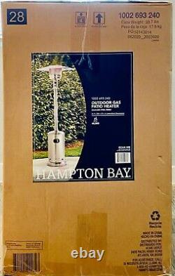 NEW IN HAND Hampton Bay 48000 BTU Stainless Steel Patio Heater SHIP FAST