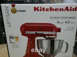 NEW KitchenAid 5 Quart Tilt-Head Stand Mixer Empire Red KSM150PSER FREE SHIPPING