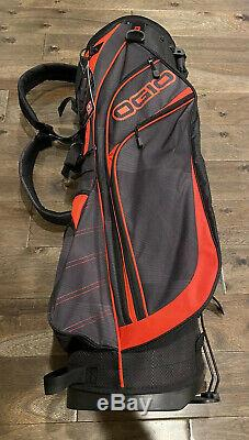 NEW Ogio Golf 7 Way Stand Bag Red/Black Dual Straps FREE Shipping