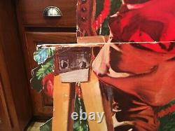 NEW SHIPPING Vintage nearly LIFE SIZE Santa with Coca-Cola free standing die cut
