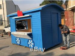 New 2.5MX1.6M Sandwich Board Movable Concession Stand Kitchen Shop Ship By Sea