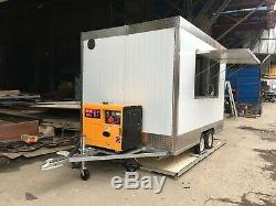 New 3Mx1.8M Concession Stand Trailer Mobile Kitchen+3KW generator Ship By Sea