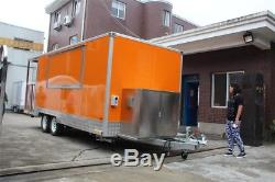 New 4MX2M Concession Stand Trailer Kitchen +Fryer +Stove Ship By Sea