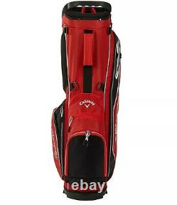 New Callaway 2021 X-Series Golf Black Red Stand Bag Free Shipping